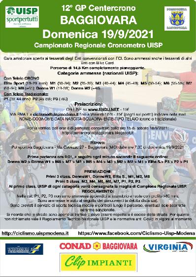Centercrono Baggiovara - Campionato Regionale Cronometro UISP